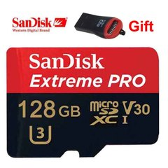 128GB Sandisk Extreme PRO V30 Memory Card Class10 TF Card Micro SD 128G +Adapter red micro sd 128gb high speed