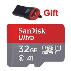 Sandisk 32GB 32G Memory Card A1 Class 10 Micro SD Card SDXC SDHC TF Card 100mb/s + Card Reader red micro sd 32gb high speed