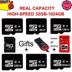 New 128GB 256GB 512GB 32GB 64GB 1024GB Micro SD SDHC Card TF Memory Card for Smart Phones Camera black micro sd 256gb high speed
