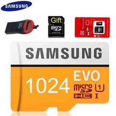 Samsung EVO 1024GB Micro SD SDHC SDXC Memory Card 1024G 1T + Card Reader golden micro sd 1024gb high speed