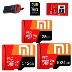 Xiaomi 128GB 512GB Memory Micro SD Class 10 512g + Reader red micro sd 512gb high speed