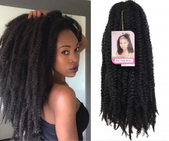 KK-Marley braids afro kinky curly hair twist braid Synthetic Extensions Twist Braids Hair(18inch) a01 one package