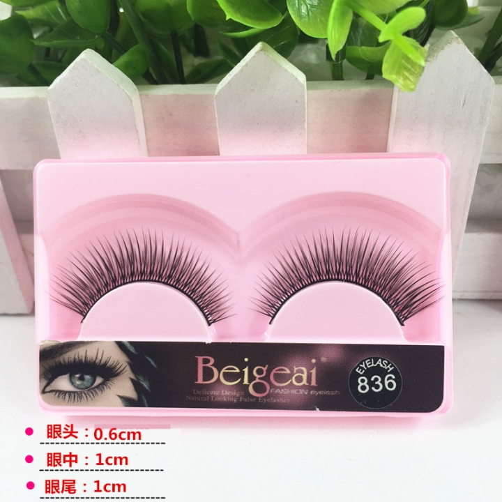 Kk 10 Pairs Super Rich Eyelashes Natural Black Long Thick Fake Eye