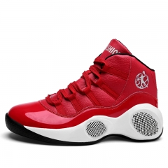KK-Fashion Men Quality Running Basketball Inner Height Increasing Sport Breathable Sneakers Shoes red 39