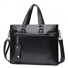 Fashion Men 2pcs/3pcs/4pcs/5pcs Crossbody Shoulder Bag Business Messenger Handbag Suit set of 2-black as picture