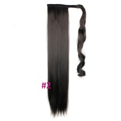 KK-Fashion Long Straight Synthetic Ponytail Extensions Fake Hair 2 one pcs
