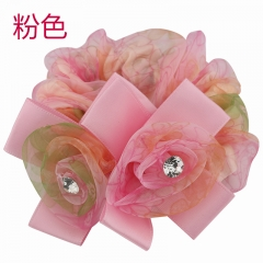 Hair bands   Flower hair bands   Rubber band flower hair ring pink Buy one get one free