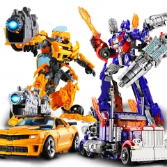 Alloy/plastic transformers 5 autobot robot model of optimus prime transformed children's gifts A plastic