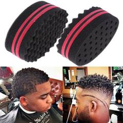 Double Sided Barber Hair Brush Sponge Dreads Locking Twists Coil Afro Curl Wave black one