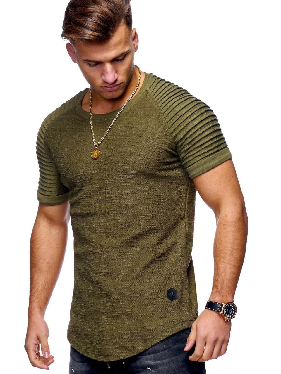 0ec3ebd7b75441 Men s t Shirts Slim Fit Short  Long Sleeve Casual Tops Tee For Men army  green-short sleeve xl  Product No  1414119. Item specifics  Brand