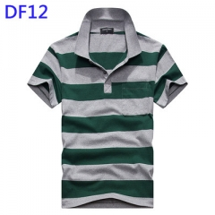 Men's  Striped Polo Shirt Summer Tops&Tees Casual Short Sleeve TShirts For Male DF12 l cotton