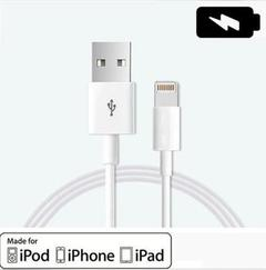 Original USB Data Cable Fast Charger iPhone X 8 7 6 5 S Plus white 2m