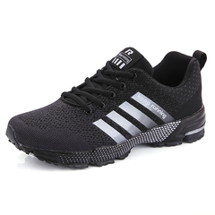Mens Running Shoes Breathable Male Outdoor Walking Sport Shoes Women Sneakers Couple Shoes black 36