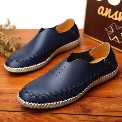 Big Size Business Casual Shoes Men Flats Driving Loafers Shoes Designer Footwear blue 45