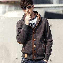 Hoodies Men Hoody Sweatshirts Hip Hop Fashion Student Men Casual Cardigan Hooded dark grey m