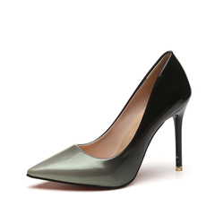Size 35-42 Women Shoes Pointed Toe Dress Pumps 10CM High Heels Shoes grey 35