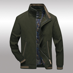 Men Jacket Cotton Jacket Coat Men's Business Casual Work Jacket Army Green m