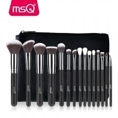 MSQ Pro 15pcs Makeup Brushes Set Powder Foundation Eyeshadow Make Up Brushes Cosmetics Soft Synthe STB15b1