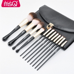 Brand Makeup Brushes 12PC Set Wood Make Up Brush Soft Synthetic Collection with Powder STB12HY