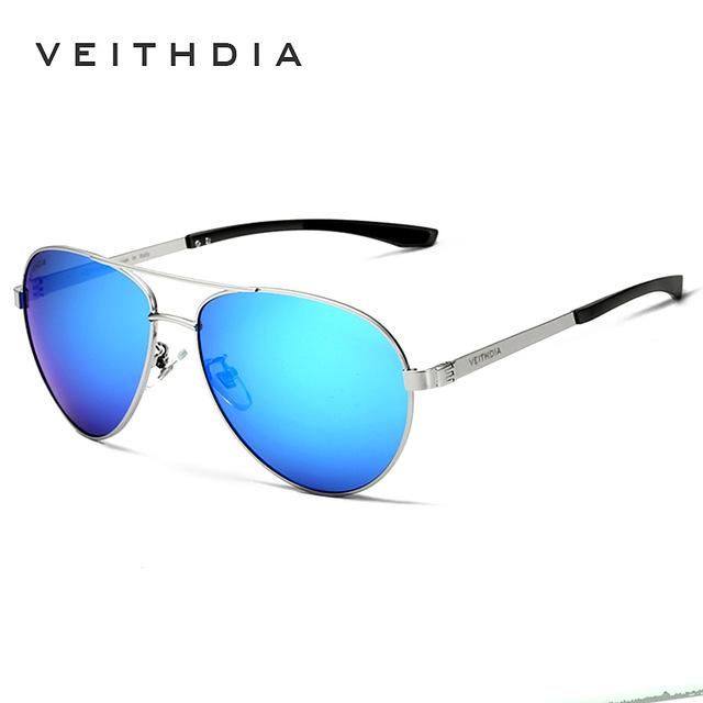 91d5167027 VEITHDIA Fashion Brand Designer Aluminum Magnesium Men s Sun Glasses ...