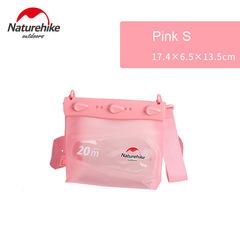 Naturehike Outdoor Zwemmen Drifting Duiken Onderwater PVC Waterdichte Tas Dry Sack Opslag Rafting pink s