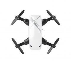 Folding mini Quad-copter WIFI drone aerial photography remote control aircraft helicopter HD camera White 9cm*7cm*3cm