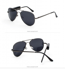 Smart Stereo Bluetooth Polarized Sunglasses Spectacles Drive Listen to songs Telephone call grey one size