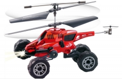 Remote-controlled helicopter missile aircraft Electric-controlled remote aircraft model UAV Red 26cm*22.4cm*15cm