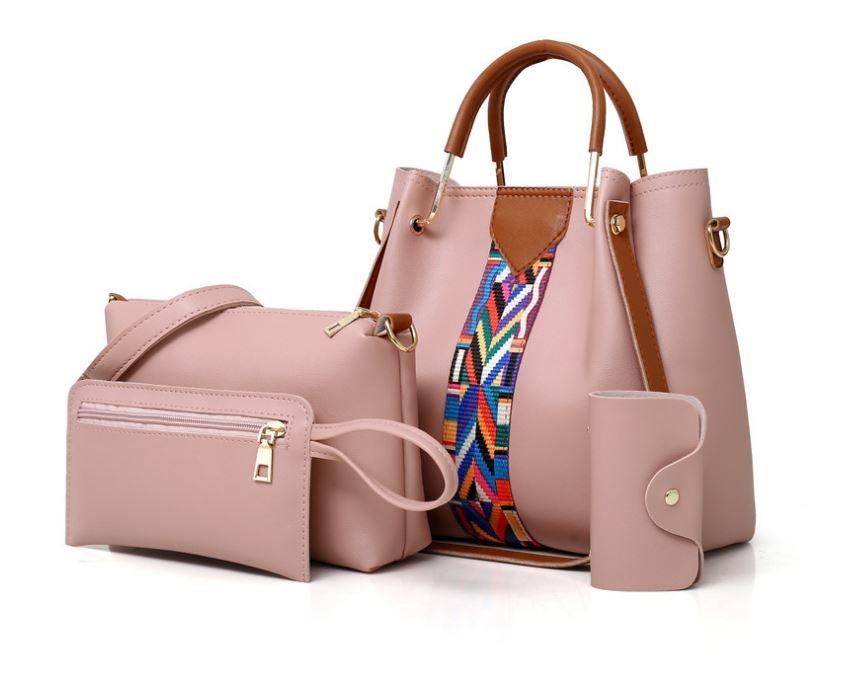 4fd8fb20e1 Lady Fashion Color Strap Bag Handbag 7 Color 4PCs Classic Style ...