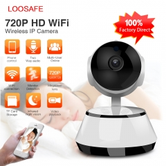 LOOSAFE Wifi Security IP Camera Baby Monitor Wifi Wireless Night Vision Home Surveillance white 720p