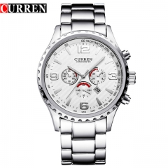 Original New CURREN Luxury Relogio Masculino Casual  Sports Reloj Military Quartz Watch 8056 style 2 one size