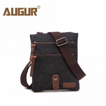 1ae21d3cf43 Kilimall  AUGUR Canvas Men Shoulder Bag Summer Classic Messenger Bags For  Male Clear England black 19.5 3 25cm 1368110