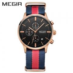 MEGIR Original Men Watch Women Watches Fashion Sport Quartz Watches Canvas Strap type 1 one size