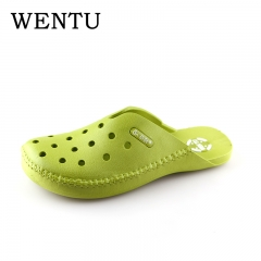 WENTU unisex rubber clogs women slippers mens shoes mules  garden clogs for women and male Army green 6
