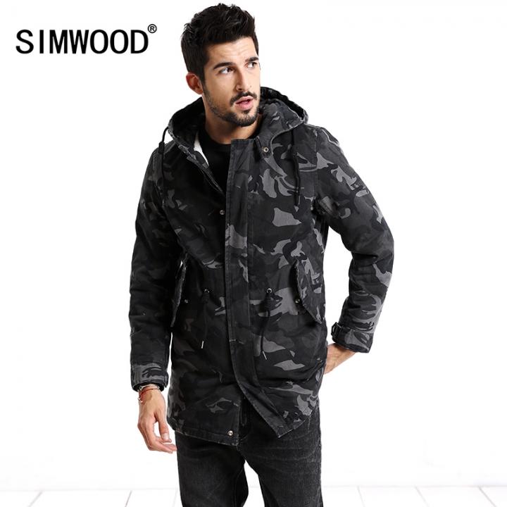 Kilimall Simwood 2018 Winter Coats Men Fashion Camouflage Jacket