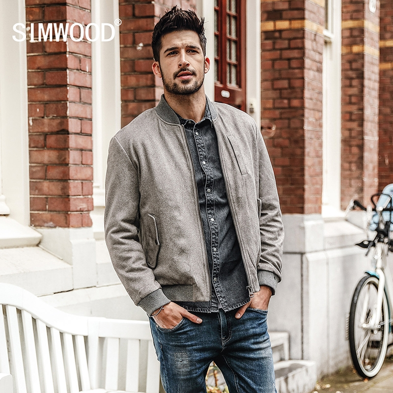 a7119194e4a SIMWOOD 2018 Spring Winter Men s Coat Brand Faux Suede Jacket Plus Size  High Quality Brand Clothing gray xxxl  Product No  1528735. Item specifics   Brand