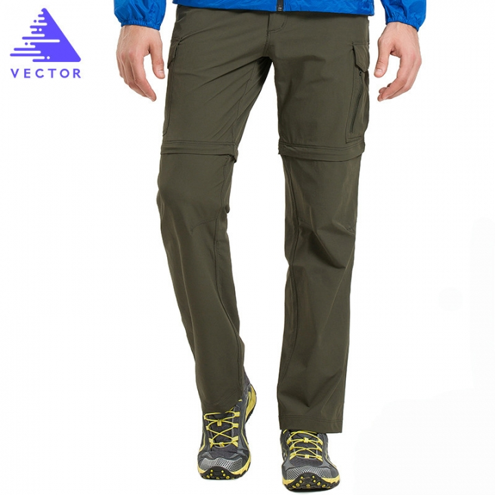 d218a14c173 VECTOR Quick Dry Pants Men Hiking Trousers Removable Trekking Hunting  Hiking Pants Hiking Shorts army green