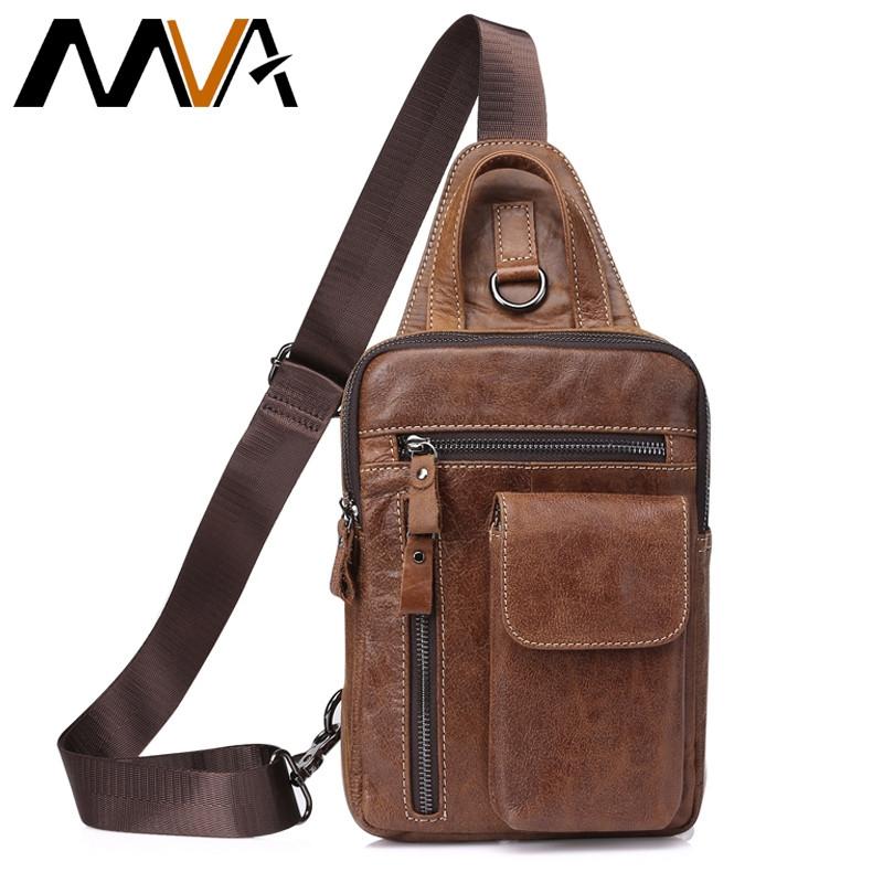 959cb172d2 MVA Genuine Leather Crossbody Bags men casual messenger bag Small chest  Brand Designer Male men s moshabrown 16 6 24cm  Product No  1583454. Item  specifics ...