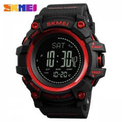 New Mens Sports Watches SKMEI Brand Outdoor Digital Watch Hours Altimeter Countdown Pressure Compass red one size