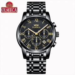 Men Watches Top Brand Luxury OLMECA Waterproof Quartz Wrist Watch Chronograph Relogio Masculino wole black gold one size