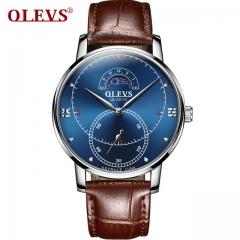 Watches Men Watch Luxury Brand OLEVS High Quality Japan Quartz Wristwatch mens Relogio brown blue one size