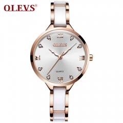 OLEVS Famous Luxury Brand Fashion Women's Watches for Women Original High Quality Rhinestone Steel fwoler one size