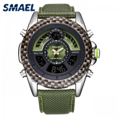 SMAEL LED Watches Bracelet Free Shipping Electronic 1369 Cool Men Waterproof Sport Watches army green one size