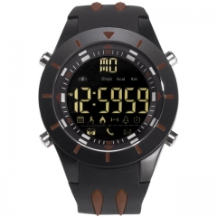 SMAEL Digital Wristwatches Waterproof Big Dial LED Display Stopwatch Sport Outdoor Black Clock Shock brown one size