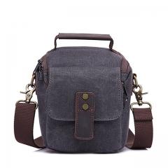 G-FAVOR Famous Brand Messenger Bag Men Canvas Waterproof Crossbody Bags Vintage Mens Protect gray one size