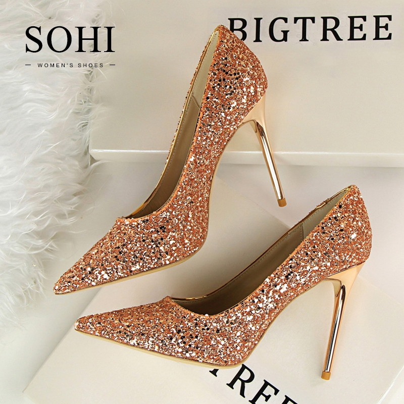 44391f834e17 ... Pumps Heels Shoes Pointed Toe Shallow High Heels Women Shoes champagne  38  Product No  1331114. Item specifics  Seller SKU SOHI-00152  Brand  SOHI
