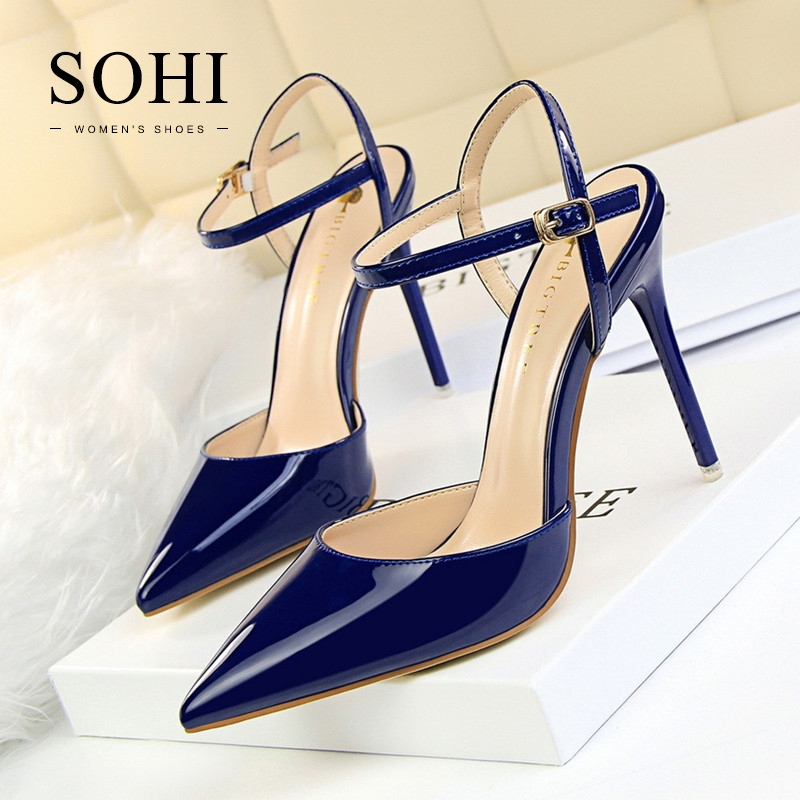 cffcc5019efa ... 1 Pairs PU Pumps Heels Shoes Pointed Toe Buckle Strap High Heels  Sandals Women Shoes blue 34  Product No  1331495. Item specifics  Seller  SKU SOHI-00156 ...