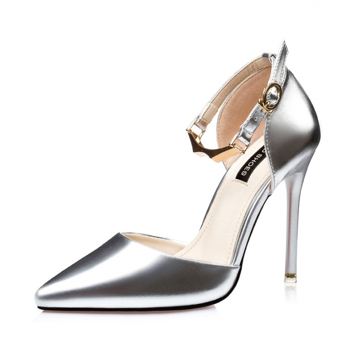 af6e9f56aac SOHI 1 Pairs Simple PU Pumps Heels Shoes Pointed Toe Buckle Strap High  Heels Sandals Women