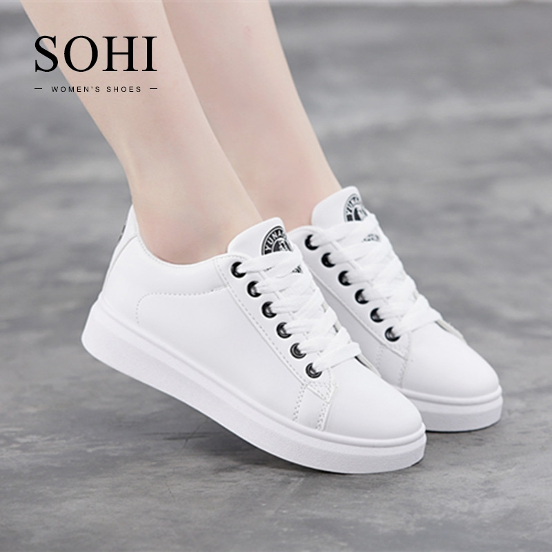 d7100063c91713 SOHI 1 Pairs PU Size 34-38 Classic Comfortable Flat White Shoes Sneakers  Shoes Women black 34  Product No  1339546. Item specifics  Seller SKU SOHI-00039  ...