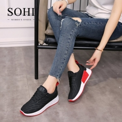 SOHI 1 Pairs Net Yarn Size 35-40 Breathable Running Shoes Sneakers Athletic Women's Shoes black 35
